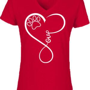 Love dog – Női V nyakú póló