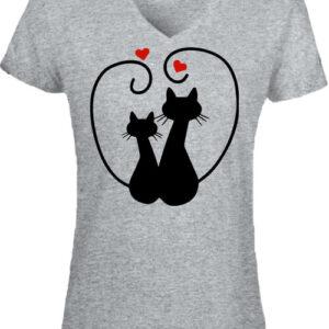 Szerelem – Női V nyakú póló