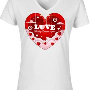 Valentin nap – Női V nyakú póló