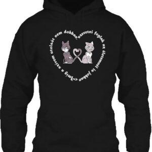 Amíg a szívem szerelem – Unisex kapucnis pulóver