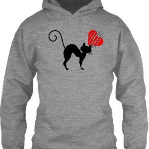 Macskamánia – Unisex kapucnis pulóver