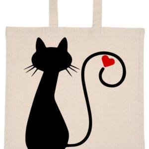 Cica imádat- Basic rövid fülű táska