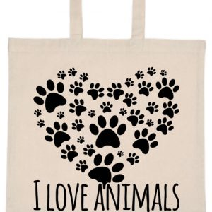 I love animals- Basic rövid fülű táska