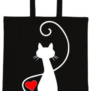 Macska szerelem- Basic rövid fülű táska