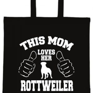 Mom's rottweiler- Basic rövid fülű táska