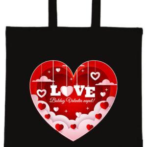 Valentin nap- Basic rövid fülű táska