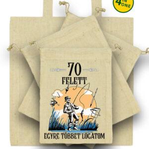 Horgász 70 felett – Táska szett