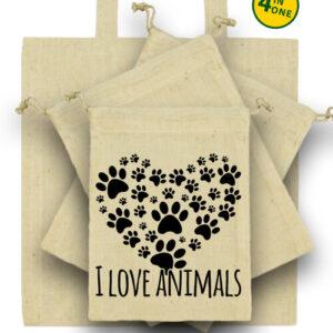 I love animals – Táska szett