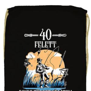 Horgász 40 felett- Prémium tornazsák