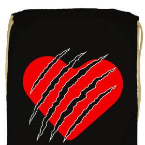 Macska szív- Prémium tornazsák