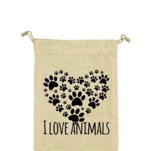 I love animals – Vászonzacskó kicsi