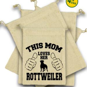 Mom's rottweiler – Vászonzacskó szett