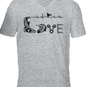 Love motocross – Férfi V nyakú póló