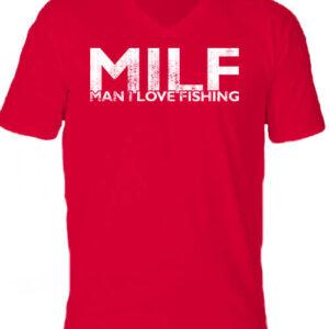 MILF fishing – Férfi V nyakú póló