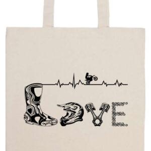 Love motocross- Basic hosszú fülű táska
