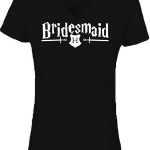 Bridesmaid – Női V nyakú póló