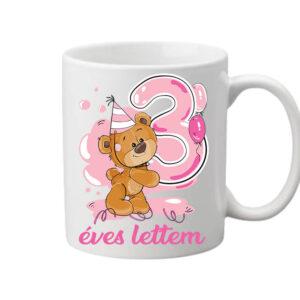 3 éves lettem lány – Bögre