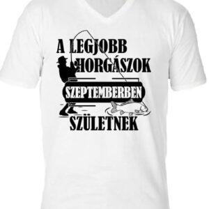 Szeptemberi horgászok – Férfi V nyakú póló