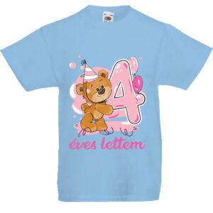 4 éves lettem lány- Gyerek póló