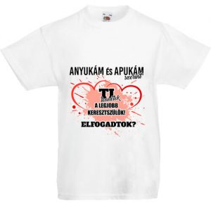 Keresztszülők lány- Gyerek póló