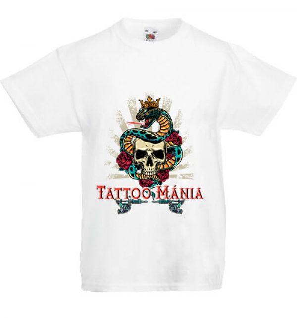 Gyerek póló Tattoo mánia fehér