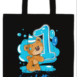 1 éves lettem fiú- Prémium hosszú fülű táska
