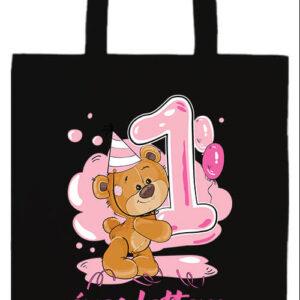 1 éves lettem lány- Basic hosszú fülű táska