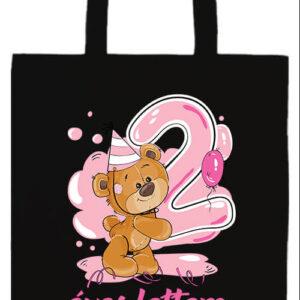 2 éves lettem lány- Basic hosszú fülű táska