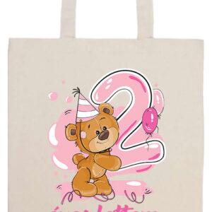 2 éves lettem lány- Prémium hosszú fülű táska