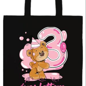 3 éves lettem lány- Basic hosszú fülű táska