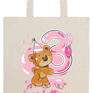 3 éves lettem lány- Prémium hosszú fülű táska
