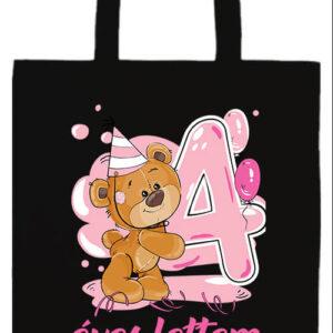 4 éves lettem lány- Prémium hosszú fülű táska