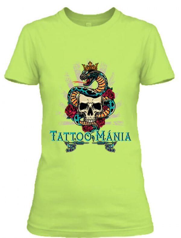 Női póló Tattoo mánia almazöld