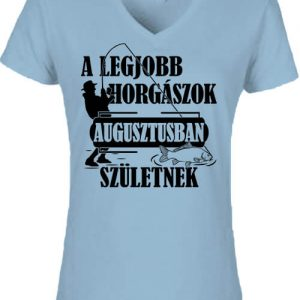 Augusztusi horgászok – Női V nyakú póló