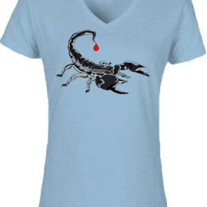 Skorpió – Női V nyakú póló