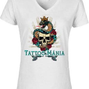Tattoo mánia – Női V nyakú póló