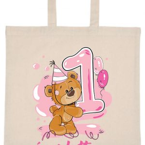 1 éves lettem lány- Basic rövid fülű táska