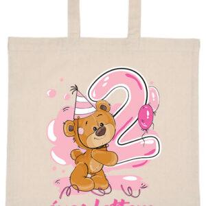 2 éves lettem lány- Basic rövid fülű táska