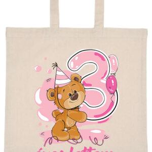 3 éves lettem lány- Basic rövid fülű táska