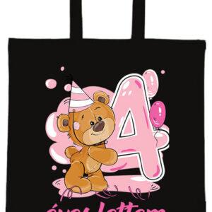 4 éves lettem lány- Basic rövid fülű táska
