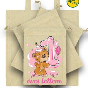 1 éves lettem lány – Táska szett