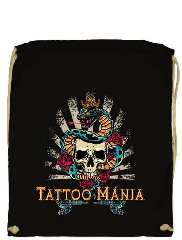 Tornazsák Tattoo mánia fekete