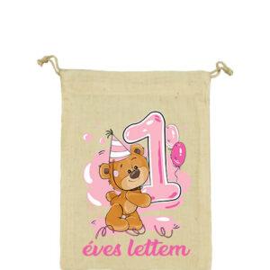1 éves lettem lány – Vászonzacskó közepes