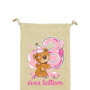 3 éves lettem lány – Vászonzacskó kicsi