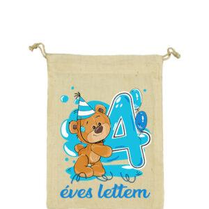 4 éves lettem fiú – Vászonzacskó kicsi