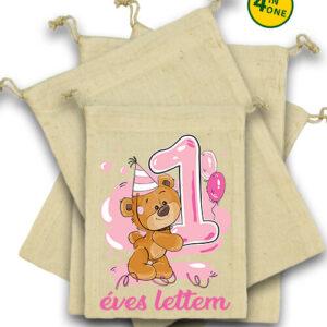 1 éves lettem lány – Vászonzacskó szett