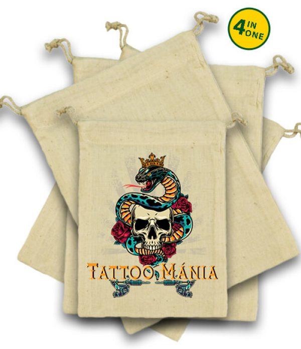 Vászonzacskó szett Tattoo mánia natúr