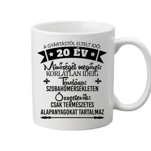 20 éves születésnap – Bögre