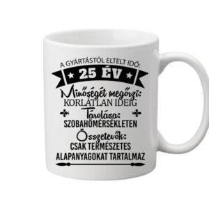 25 éves születésnap – Bögre