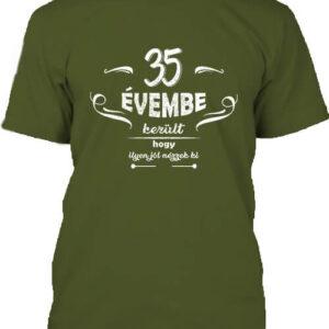 35 évembe születésnap – Férfi póló